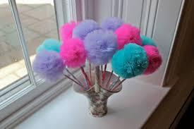 Tulle Pom Pom Decorations by Pretti Mini Blog Mini Pom Pom Love