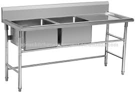Stainless Steel Fish Cleaning Station With Sink by Stainless Steel Table With Sink Kitchen Sinks Ushaped Stainless