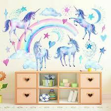 deko fürs kinderzimmer einhorn pferd wandtattoo für mädchen