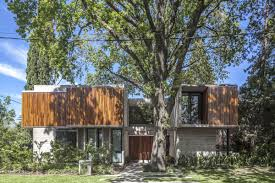 100 Modern Wood Homes Concrete And Wood House Was Designed Around Existing Trees