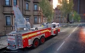 100 Gta 4 Fire Truck Mod 2013 Ferrara 100 Aerial Ladder FDNY Version 2 With Working
