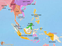 Map Of South East Asia At 1871CE
