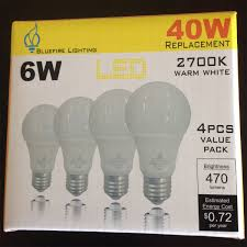 led light bulb type a 19 6 watt replacement for 40 watt standard