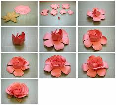 Rose Paper Flower Making Diy Step