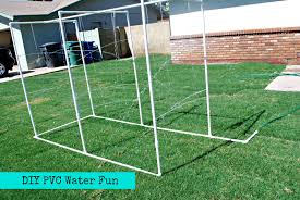 DIY PVC Backyard Water Park - Classy Clutter Soccer Backyard Goals Net World Sports Australia Franklin Tournament Steel Portable Goal 12 X 6 Hayneedle Floating Backyard Couch Swing Kodama Zome Business Insider Procourt Mini Tennis Badminton Combi Greenbow Number 1 Rated Outdoor Systems For Voeyball Pvc 10 X 45 4 Steps With Pictures Golf Nets Driving Range Kids Trampoline Bounce Pro 7 My First Hexagon Jugs Smball Packages Bbsb Hit At Home Batting Cage Garden Design Types Pics Of Landscaping Ideas