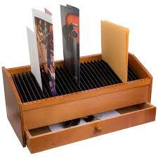 31 slot wooden billletter organizer with drawer desk organizer