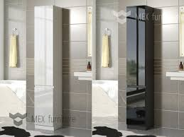 Tall Slim Cabinet Uk by High Gloss Bathroom Furniture Mex Furniture