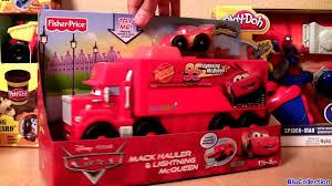 100 Disney Cars Mack Truck Hauler Wheelies Launcher Lightning McQueen Talking