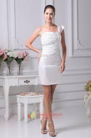 one shoulder short semi formal dress ivory one shoulder cocktail