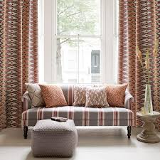 nomad fabric collection clarke and clarke curtains roman blinds