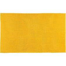 badteppich chenille 50 x 70 cm gelb gözze