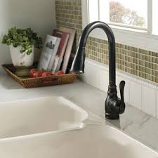 Moen Lindley Faucet Loose Handle by Shop Moen Anabelle Spot Resist Stainless 1 Handle Pull Down