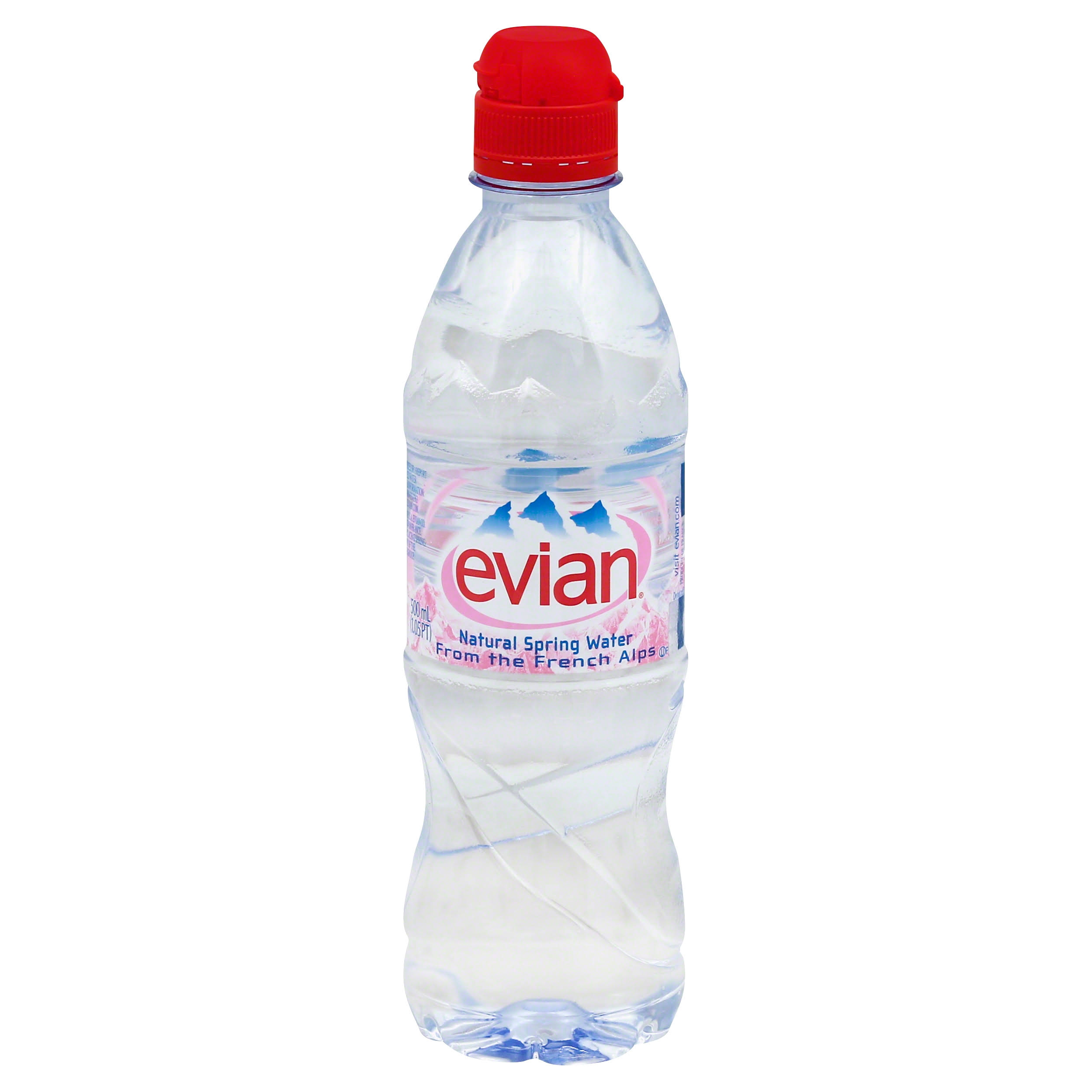 Evian Natural Spring Water - 500ml, Pack of 24