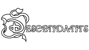 Descendants Logo Coloring Page