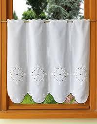 rideau de cuisine en rideau de cuisine en broderie anglaise
