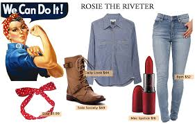 Rosie The Riveter Halloween Tutorial by 100 Halloween Costumes Rosie Riveter Halloween Tutorial