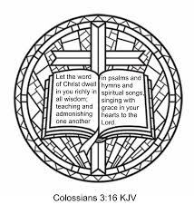 Colossians 316 KJV Bible Coloring Page