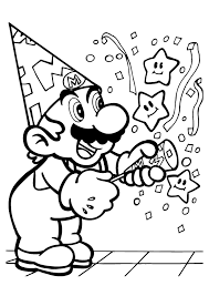 Mario Characters Coloring Pages 12 Free Printable For Kids
