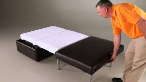 Castro Convertible Ottoman Bed by Ottoman Youtube