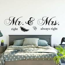 details zu wandtattoo schlafzimmer wandaufkleber mr mrs right always right spruch