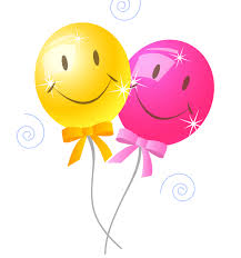 Clip art of a bouquet of colorful balloons for a birthday party or celebration Description