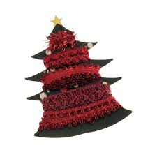 Groves Trim Collection Christmas Tree Metallic Red