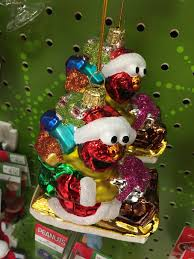 As Well PVC Ornaments Of Cookie Monster Abby And Elmo Carrying Presents