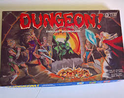 Dungeon Vintage Fantasy Board Game 1980s Unique Nerd Geek Collectible Toy