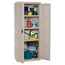Suncast Outdoor Storage Cabinets With Doors by Suncast Tall Garage Cabinet Taupe Walmart Com