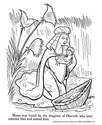 Moses Bible Story Coloring Page