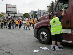 100 Trucking Strike LA City Council To Consider Voiding Port Landuse Agreement With