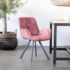 giga esszimmer stuhl tedd rosa bezug samt küchenstuhl