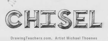 to Draw 3D Chisel Letters