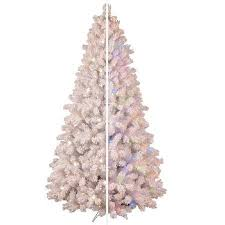 Ge Pre Lit Christmas Tree Replacement Bulbs by Ge 7 5 Ft Pre Lit Flocked White Valley Pine Artificial Christmas