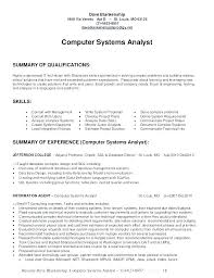 System Analyst Resume Example Business Examples Project Sample Objective It