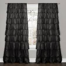 Gray Ruffle Blackout Curtains by Ruffle Blackout Panel Pottery Barn Kids