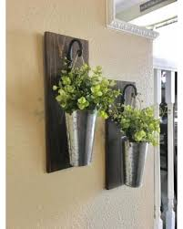 Galvanized Metal Hanging Planter With Greenery Or Flowers Rustic Wall Decor Sconce