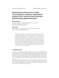 Dynamic Value Annual Financial Risk Evaluating The Performance Of Static Pdf Available