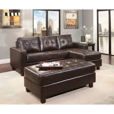 Buchannan Faux Leather Corner Sectional Sofa Chestnut by Oakdale 2 Piece Genuine Leather Left Facing Sofa Bed Sectional