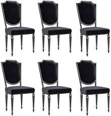 casa padrino luxus barock esszimmer stuhl set schwarz antik gold 50 x 50 x h 105 cm edle küchen stühle barock stühle 6er set esszimmer möbel