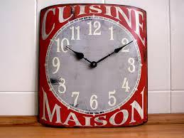 horloge de cuisine horloge métal cuisine maison déco brocante dec7957 retrodeco