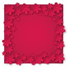 Paper Cut Flower Background