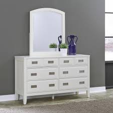 home styles newport 6 drawer white dresser with mirror 5515 74