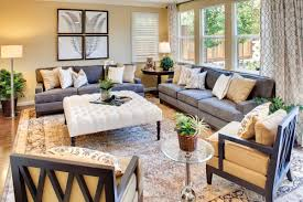 Could Use Gray Couches With Yellow And Blue Pillows Add More Interesting Decor