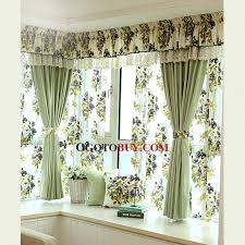 Fabric For Curtains Cheap by Light Green Cotton Thick Fabric Privacy And Insulated Bay Window