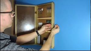 Magnetic Lock Kit For Cabinets by Cabinet With Hidden Magnetic Lock Youtube