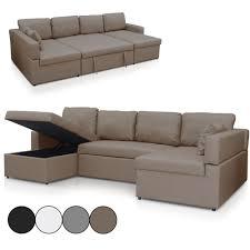 canape d angle simili canapé d angle en u convertible en simili cuir emily 4 coloris