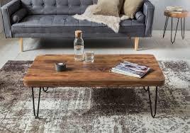 finebuy couchtisch harlem massivholz 115x40x60 cm wohnzimmertisch design sofatisch mit metallbeine beistelltisch rustikal tisch landhaus stil