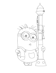 Minions Coloring Pages For Kids Printable Online 1