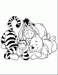 Disney Halloween Coloring Pages To Print by Good Cute Winnie The Pooh And Tigger Drawings With Tigger Coloring
